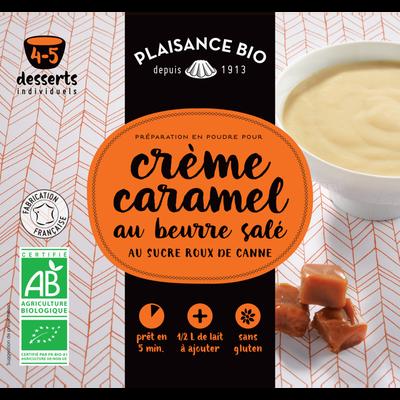 Préparation pour crèmes gourmandes caramel et beurre salé bio, PLAISANCE BIO, 40g