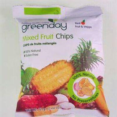 Chips de fruits mélangés GREENDAY,55g