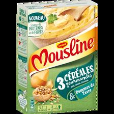 MOUSLINE, 3 céréales, 2 sachets de 100g
