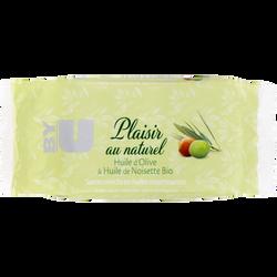Savon plaisir au naturel huile d'olive et noisette BY U, 100g