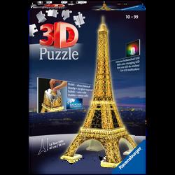 Ravensburger - Puzzle 3D lumineux - Tour Eiffel - Dès 12 ans