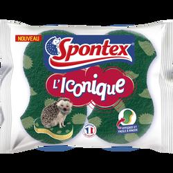 Eponges efficace et facile à rincer grattante SPONTEX, x2