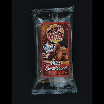 "Mini chorizos ""lou'sticks"", barquette de 90g"
