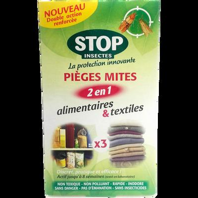 Anti-mites 2 en 1 alimentaire et textile DGK, x2