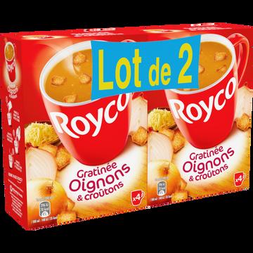 Royco Soupe Instantanée Gratinée Oignons Et Croutons Royco, 2x4 Sachets 160cl