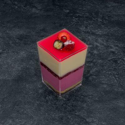 Verre fruits rouges vanille, 2 pièces, 210g