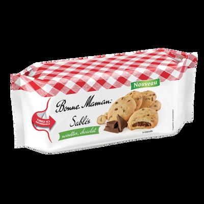 Sablés aux noisettes et au chocolat BONNE MAMAN, paquet de 150g