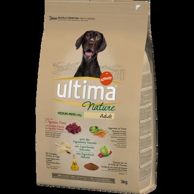 Croquettes pour chiens médium-maxi à l'agneau ULTIMA NATURE, sac de 3kg