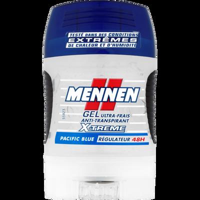 Déodorant Pacific Blue X'Trem MENNEN, stick gel de 75ml