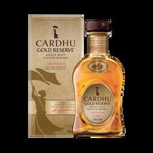 Scotch Whisky single malt CARDHU gold réserve 40°, bouteille de 70cl sous étui