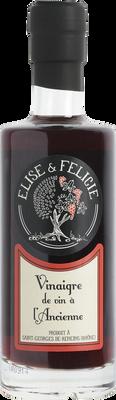 Vinaigre de vin rouge ELISE ET FELICIE, bouteille de 25 cl
