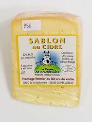 Fromage fermier au lait cru de vaches Sablon au cidre, FERME DE LA SABLONNIERE, 32%mg, 150g