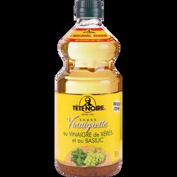 Sauce vinaigrette au vinaigre de xeres et basilic TETE NOIRE, bouteille de 55cl