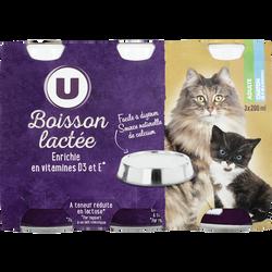 Boisson lactée pour chats et châtons de plus de 6 semaines U, 3 bouteilles, 200ml