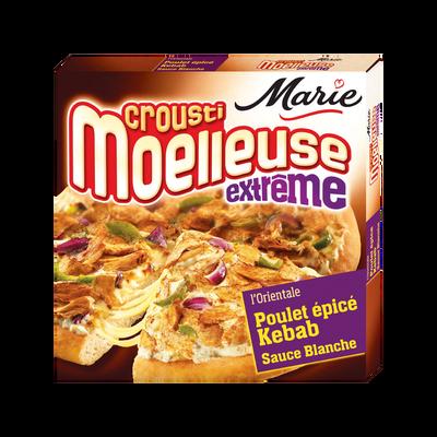 Pizza Crousti moelleuse Extrême poulet mariné façon kebab mozzarella et sauce blanche MARIE, 530g
