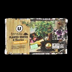 Terreau pour plantes vertes Pro Activ U, 20l