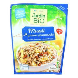 Muesli graines gourmandes sans sucre ajoutés JARDIN BIO 375g