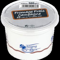 Fromage frais de campagne au lait pasteurisé 7,2% de MG, ISIGNY, 500g