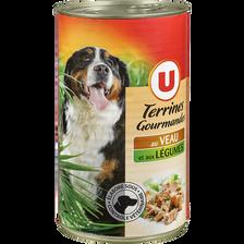 Terrines gourmandes pour chien veau/légumes U 3/2 1,240kg