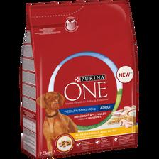 Croquette pour chien adulte medium et maxi poulet & riz ONE, sac de 2,5kg