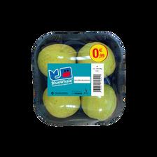 Pomme golden délicious, calibre 136/165, catégorie 1, France, barquette 4 fruits
