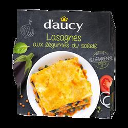Lasagnes aux légumes du soleil recette végétarienne D'AUCY, barquettemicro-ondable, 320g