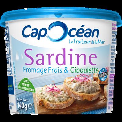 Sardine et son fromage frais ciboulette CAP OCEAN, 140g