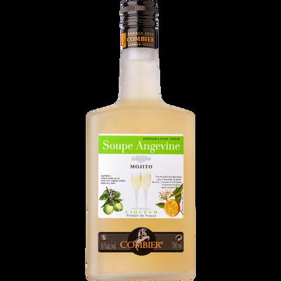 Préparation pour soupe angevine saveur Mojito COMBIER, 16°, bouteillede 70cl