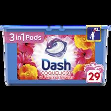 Coquelicot Lessive  Et Fleurs De Cerisier Pods Dash 3en1, X29 Soit 765g