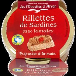 Rillettes de sardines à la tomate LES MOUETTES D'ARVOR, 125g
