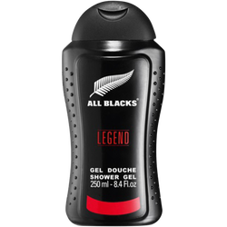 Gel douche pour homme legend ALL BLACKS, flacon de 250ml