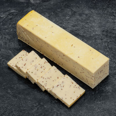 Raclette au lait pasteurisé grain de folie à la moutarde 28% MG