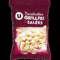 Cacahuètes grillées et salées U, 250g