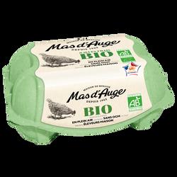Oeufs sans OGM moyen/gros bio MAS D'AUGE, x6