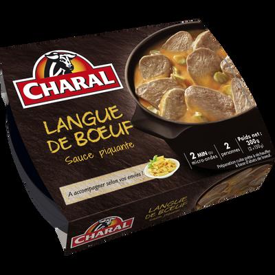 Langue de boeuf sauce piquante, CHARAL, 300g