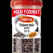 Ducros Poivre Noir Grains Classique N° 6, Ducros, Boîte Ménagère De 90g