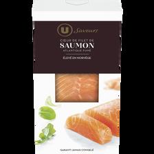 Coeur de filet de saumon fumé d'Atlantique U SAVEURS, 150g