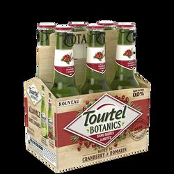 Bière sans alcool botanics cramberry TOURTEL, 0°, 6x27,5cl