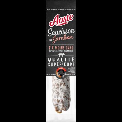 Saucisson sec au jambon -50% matière grasse AOSTE, 200g