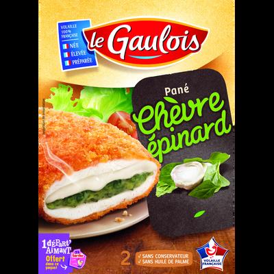 Pané de poulet chèvre épinard, LE GAULOIS, 2 pièces, 200g