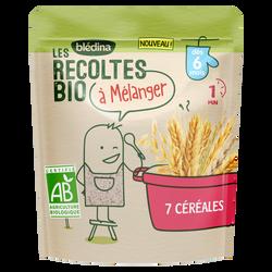 Céréales 7 céréales Les Recoltes Bio dès 6 mois, 180g