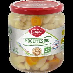 Mogettes cuisinées bio CHARLES CHRIST, bocal de 340g