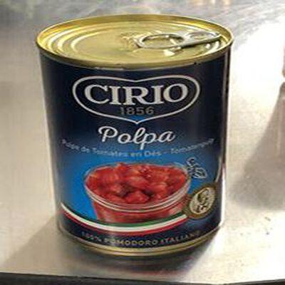 Pulpe de tomates en dés 400g