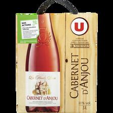 Vin rosé AOP Cabernet d'Anjou les hauts buis U, fontaine à vin de 3l
