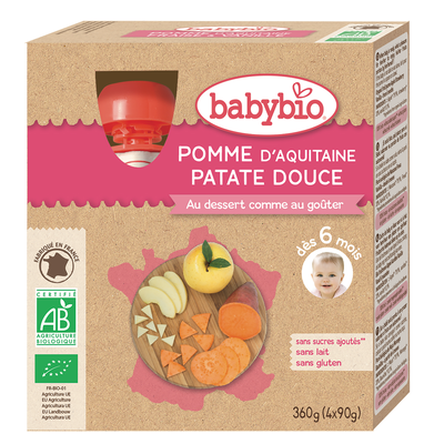 Gourde Pomme Patate douce BABYBIO, 4x90g