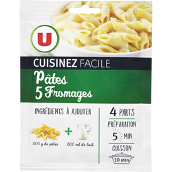 Pâtes 5 fromages cuisinez facile U, 30g