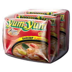 Soupe nouille crevette YUM YUM, 3x60g soit 180g
