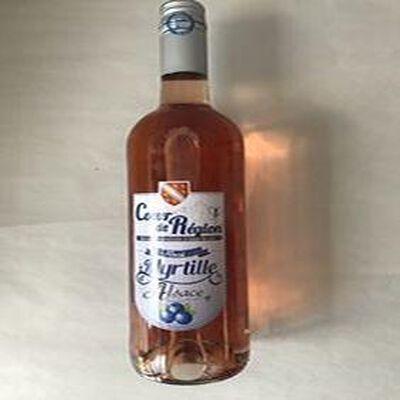 Boisson aromatisée à base de vin Rosé myrtille d'Alsace VINS ET FRUITS