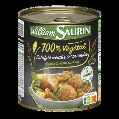 Falafels menthe et coriandre haricots verts cuisinés WILLIAM SAURIN, boîte de 800g