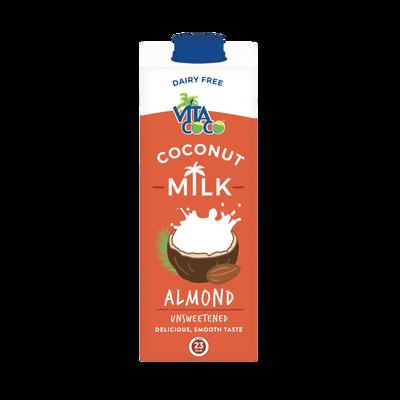 Lait de coco amande ambiant sans sucre ajouté VITA COCO, bouteille de1l